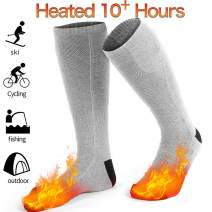 GREATSSLY Heated Socks, Foot Warmers for Men & Women, 10 Hours Continuous Heating, Rechargeable Battery Operated, Electric Heating Socks, Washable, Winter Hunting Ski, Arthritis Foot Warmer