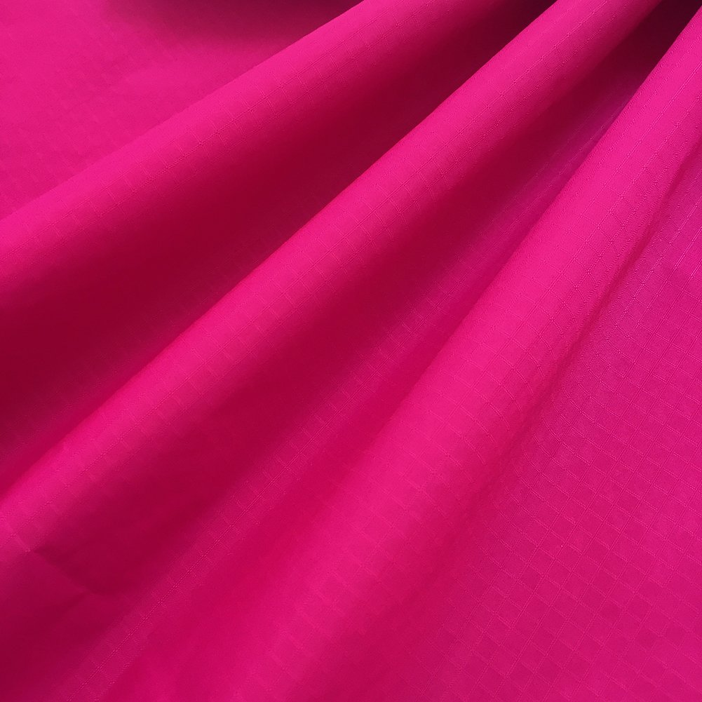 """EMMAKITES Hot Pink Ripstop Nylon Fabric 60""""x36""""(WxL) 48g (Sq M) of Water Repellent Dustproof Airtight PU Coating - Excellent Fabric for Kites Inflatable Skydancer Flag Tarp Cover Tent Stuff Sack"""