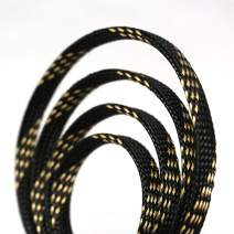 """30ft PET Expandable Sleeving Flexo Wire Cable Sleeve (2/3"""" Gold&Black 30ft)"""