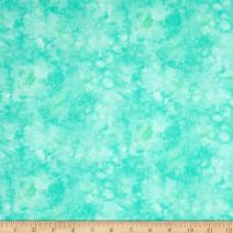 Timeless Treasures 0546592 Solid-ish Watercolor Texture Mint Fabric by the Yard