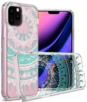 CoverON Hard Slim Fit ClearGuard Series for iPhone 11 Pro Case, Teal Mandala Design