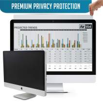 20 inch Computer Privacy Screen Filter for Widescreen Computer Monitor - 16:9 Aspect Ratio - Premium - Reversible Anti-Glare Protector - Privacy for Data Confidentiality by AirMat