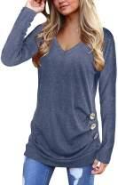 Jescakoo Tshirts for Womens Short Sleeve V Neck T Shirts Plain Fashion