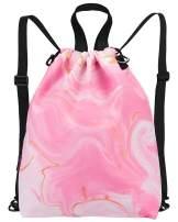 LIVACASA Drawstrings Backpacks Bags for Men Women Multi Use Gym Sackpack Sports School Yoga Bag