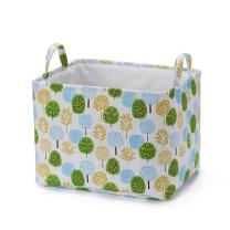 Every Deco Multi Color Trees Foldable Laundry Basket Storage and Bin with Handles - Waterproof (Large)