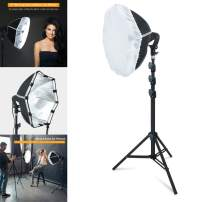 LINCO Lincostore Studio Round Lighting 15 inch Portrait Light Modern Style with Diffuser (Single Light) AM263