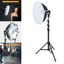 LINCO Lincostore Studio Round Lighting 15 inch Portrait Light Modern Style with Diffuser (Single Light) AM263