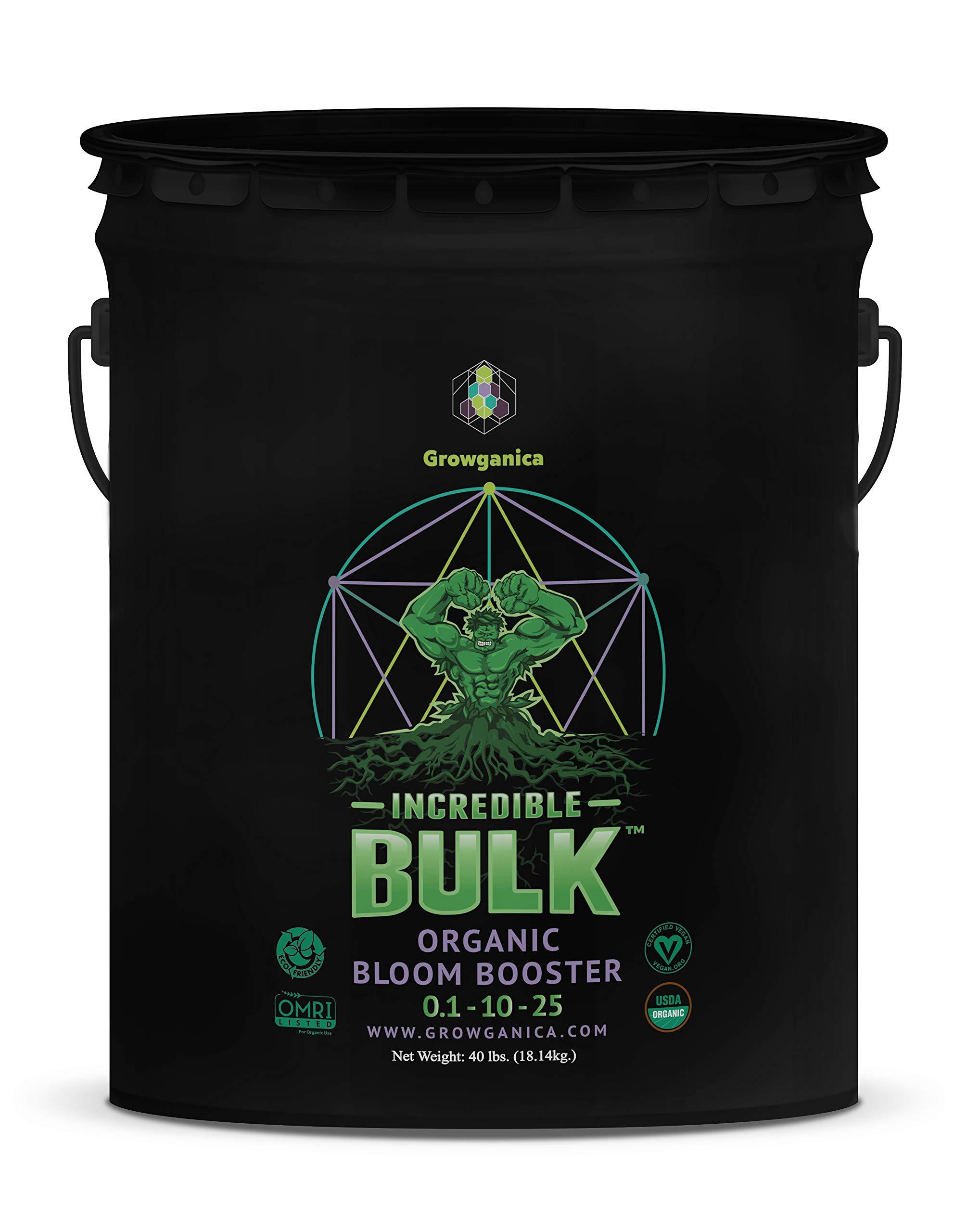 Bloom Booster, Incredible Bulk 0.1-10-25 Certified Vegan OMRI Listed Organic Plant Food (40lb)