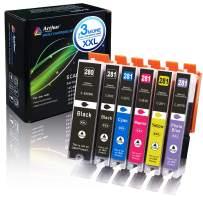 Arthur Imaging Compatible Ink Cartridge Replacement for Canon PGI-280XXL CLI-281XXL PGI 280 XXL CLI 281 XXL use with PIXMA TS9120 TS8120 TS8220 (PGBK, Black, Photo Blue, Cyan, Magenta, Yellow) 6 Pack