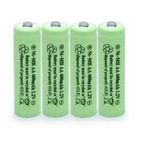 BAOBIAN AA 600mAh 1.2V NiMH Rechargeable Batteries for Solar Light,Solar Lamp,Garden Lights Green(4 PCS)