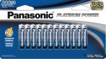 Panasonic Energy Corporation LR03XE/24B Platinum Power AAA Alkaline Batteries, Pack of 24