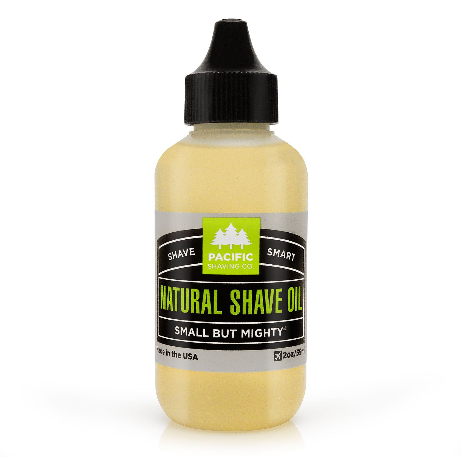Pacific Shaving Company Natural Shaving Oil - Eliminates Cuts, Nicks, Razor Burn, Soothes & Moisturizes Skin, Reduces Irritation, with Safe, Natural & Organic Ingredients, Made in USA, 2 oz