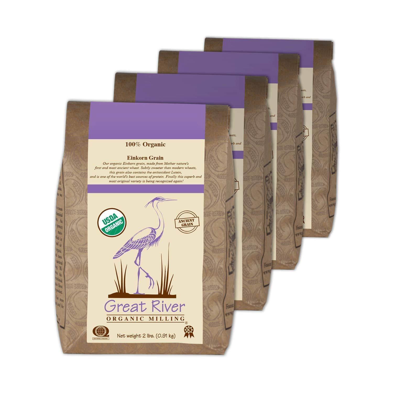 Great River Organic Milling Organic Einkorn Wheat Grain, 2 Pound, 4 Count