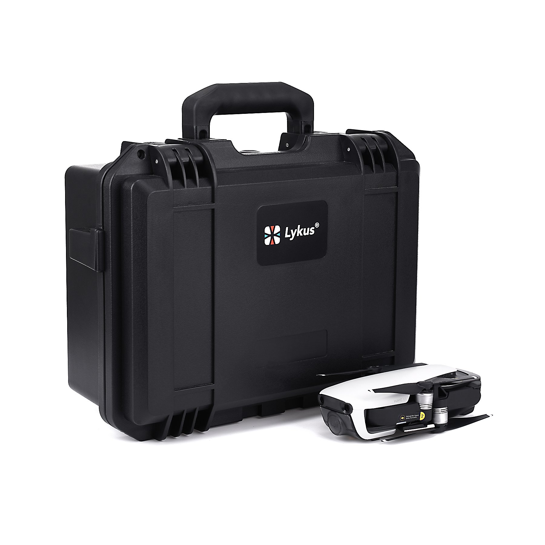 Lykus Titan MA100 Hard Case for DJI Mavic Air, Perfectly Fit DJI Mavic Air Fly More Combo and More Items, Storage Bag Included for Spare Parts