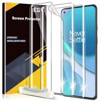 EGV 3 Pack Screen Protector Compatible with Oneplus 9 Pro, [Not Fit for OnePlus 9] HD Clear Flexible Film, Positioning Tool, Support Fingerprint, Bubble Free