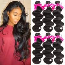 Beauty Princess Brazilian Virgin Hair 3 Bundles Body Wave 8A Virgin Unprocessed Human Hair Weave22 24 26