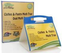PTCLTRAPS8 Dual Moth Traps for Clothes and Pantry Highly Effective All-Around Moth Traps,Pro Cloest Essentials Get Rid of Wool Moths with Natural Safe and Odor-Free Dual Premium Pheromone (Yellow)