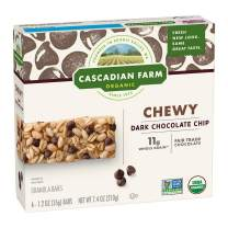 Cascadian Farm Organic Granola Bars, Chocolate Chip Chewy Granola Bars, 6 Bars
