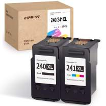 ZIPRINT Remanufactured Ink Cartridge Replacement for Canon PG-240XL CL-241XL 240 241 for Pixma MG3620 MG3220 MG2220 MG2120 MX432 MX472 MX532 MG3520 MX452 MX459 MX512 TS5120 MX392 (Black, Tri-Color)