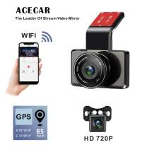 ACECAR Dual Camera Dash Cam Front and Rear with Night Vision 1080p FHD LCD Screen 150° Wide Angle, Parking Monitor, Loop Recording, WDR Wide Angle Lens, Wi-Fi, G-Sensor, GPS,Motion Detection