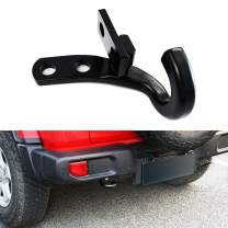 XBEEK Left Rear Tow Hook for 2018 2019 2020 Jeep Wrangler JL JLU (Black)