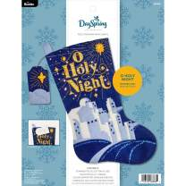 "Bucilla Hallmark Dayspring Felt Applique Christmas Stocking Kit, 18"", O Holy Night"
