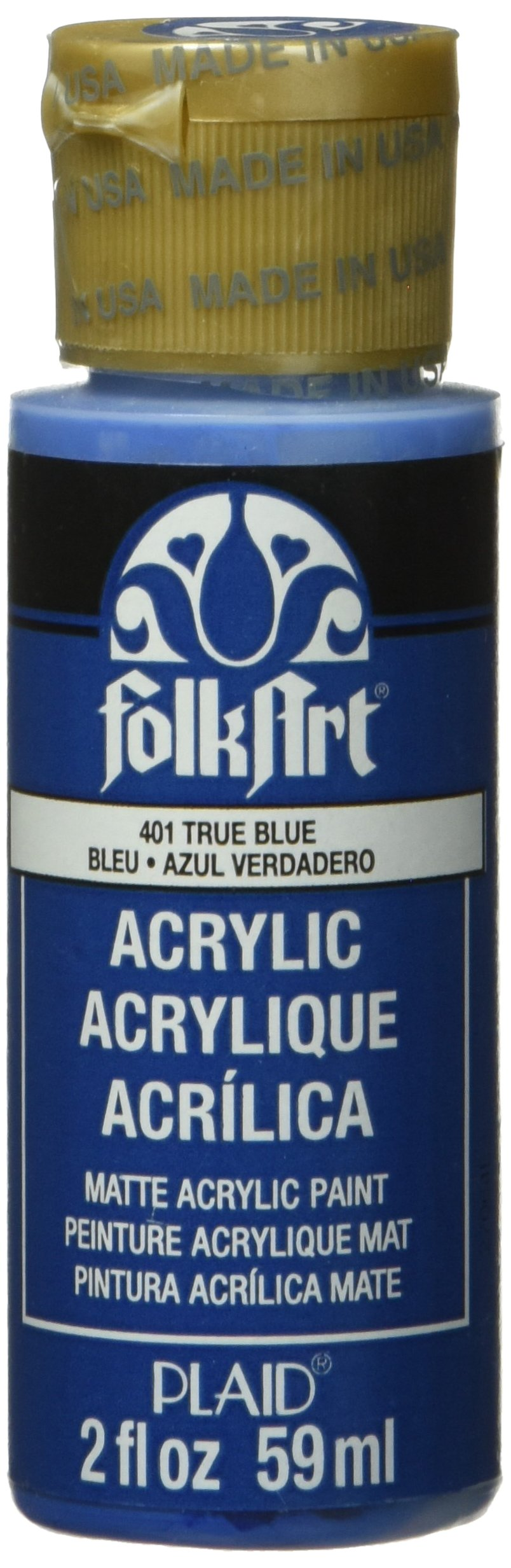 FolkArt Acrylic Paint in Assorted Colors (2 oz), 401, TRUE Blue