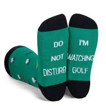 Zmart Mens Funny Sayings Football Golf Reading Math Science Game Crew Socks, Gift for Teacher Dad