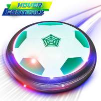 ATOPDREAM Hover Soccer Ball Indoor Floating Soccer Ball Kids Toys Floating Air Power Training Ball with LED Light and Upgraded Bumper Playing Football Game Best Gift for 3-9 Year Old Boys, Green