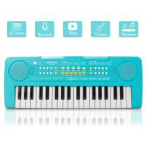 JINRUCHE Kids Piano, 37Keys Multi-Function Electronic Keyboard Piano Play Piano Organ Music Educational Toy for Toddlers Children (Blue)