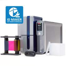 ID Maker Primacy Professional ID Card Printer - Prints Premium Quality Pictures Fast & Easy - Easiest to Use Software – 2-Sided Badge Printer Machine