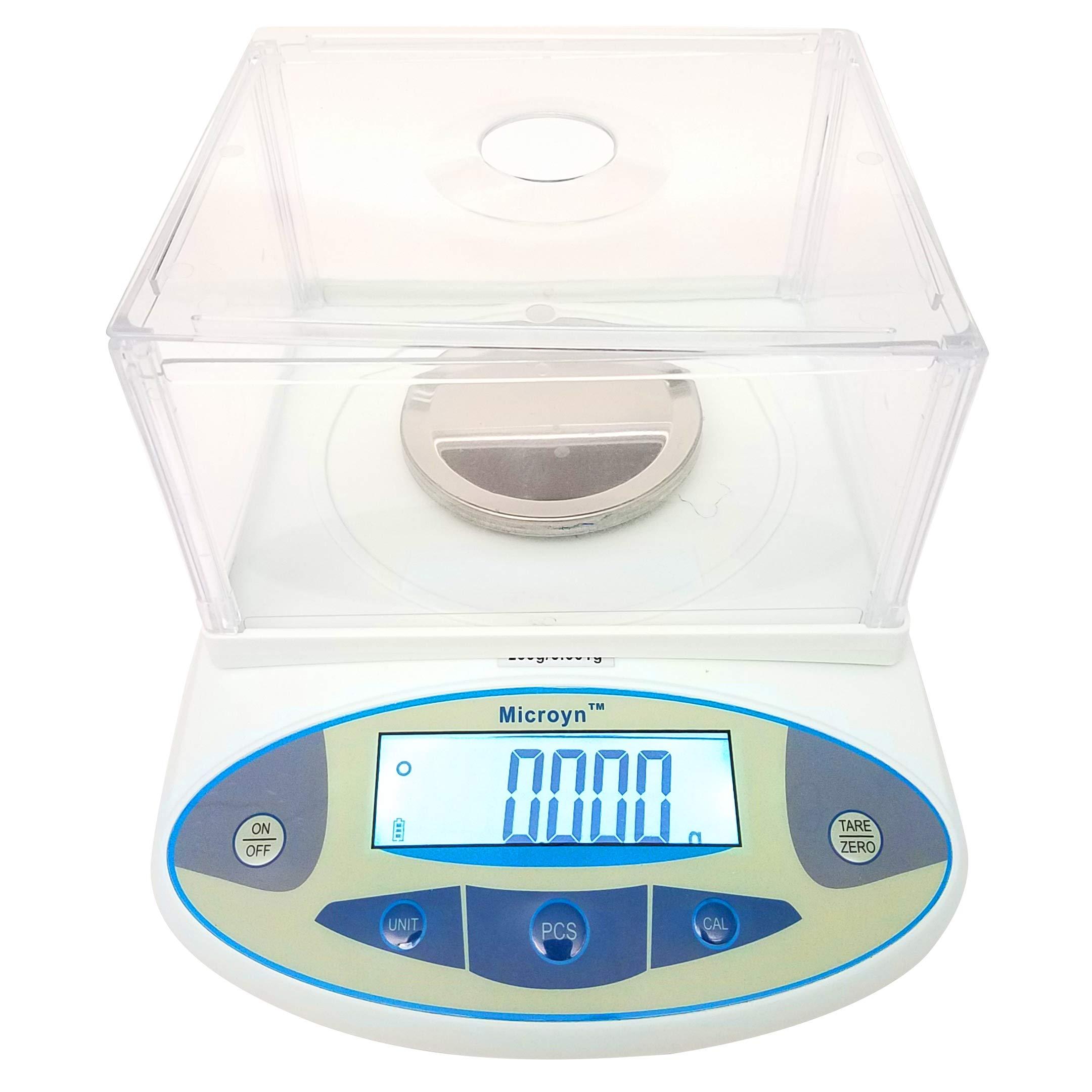 1mg Digital Analytical Balance Electronic Scale Precision Lab Balance, 200X0.001g