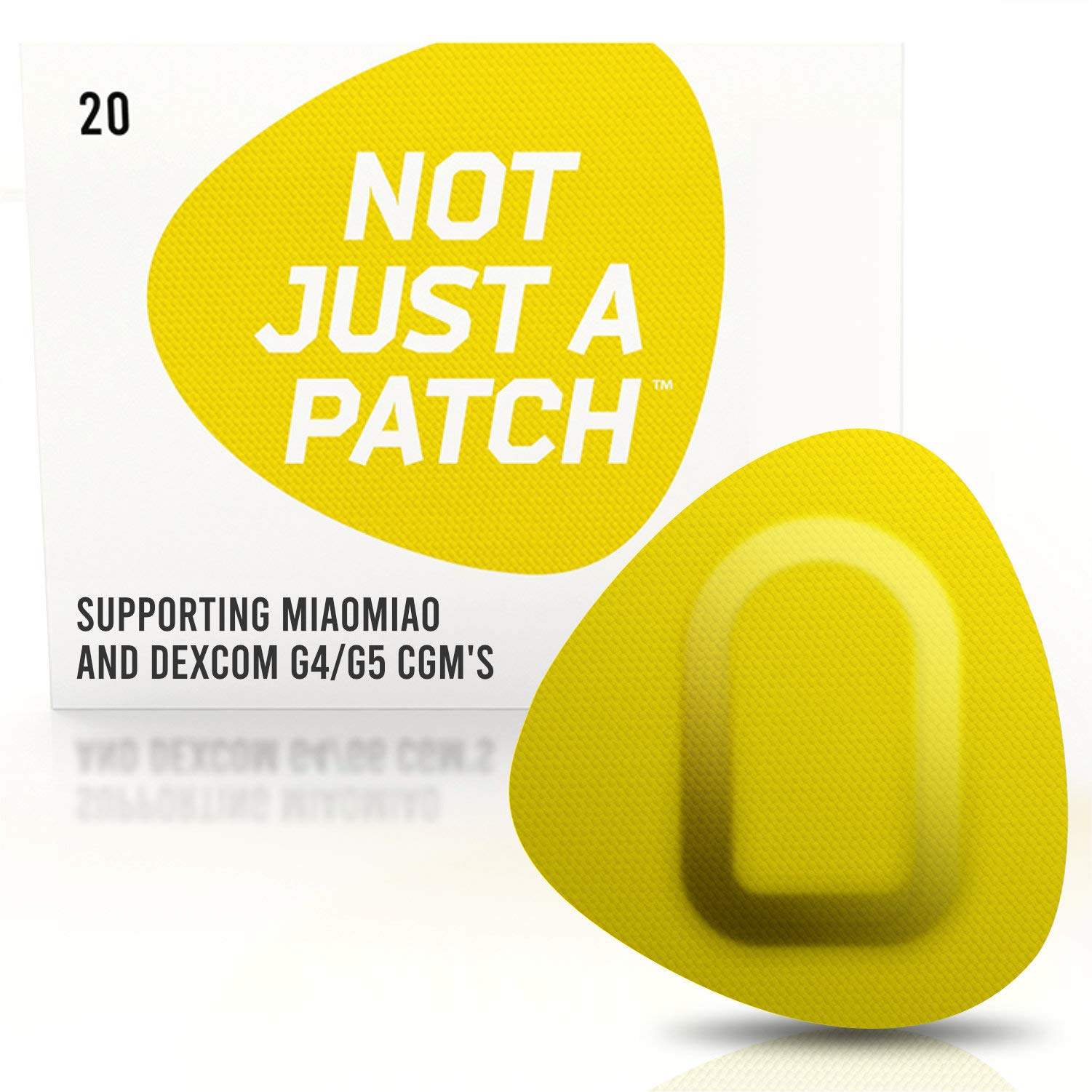 NOT JUST A PATCH Adhesive Patch for Dexcom G5 G6 & MiaoMiao Sensors. 10+ Days - Long Lasting - Hypoallergenic - Original & Unique Design - Yellow ($1/Week) - 9 Colors