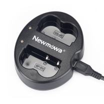 Newmowa Dual USB Charger for Canon BP-511 BP-511A and Canon EOS 5D 10D 20D 30D 40D 50D Digital Rebel 1D D60 300D D30 Kiss Powershot G5 Pro 1 G2 G3 G6 G1 Pro90