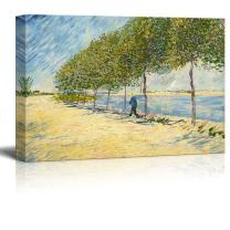 """Along The Seine by Van Gogh Giclee Canvas Prints Wrapped Gallery Wall Art 