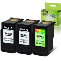 GREENCYCLE Remanufactured PG-240XL 240 XL CL-241XL 241 XL Ink Cartridge Compatible for Canon PIXMA MG3620 MG4220 MG3220 MG2220 MX392 MX432 MX472 MX512 MG3522 MX522 MX532(Black, 2 Pack; Color, 1 Pack)