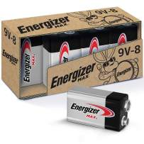 Energizer Max 9V Batteries, Premium Alkaline 9 Volt Batteries (8 Battery Count)
