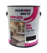 Diamond Brite Paint 21200 1-Gallon Semi Gloss Latex Paint Black