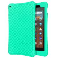 """MoKo Case Fits All-New Fire HD 10 Tablet (7th Generation/9th Generation, 2017/2019 Release), Shockproof Soft Silicone Back Cover [Kids Friendly] for Fire HD 10.1"""" - Mint Green"""