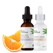 Dark Spot Corrector & Remover Brightening Face Bundle - Improve Hyperpigmentation, Scars, Acne & Discoloration - Serum Duo Made with Glycolic Acid, Vitamin C, Hyaluronic Acid for Natural Anti Aging