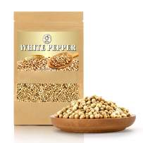 Yimi White Peppercorns, Whole White Pepper Grade AAA+ Spices Perfect for Grinder 5 Oz, Holiday Gift