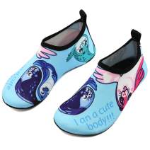 VIFUUR Girls Boys Athletic Water Shoes Kids Barefoot Aqua Socks for Beach Swimming
