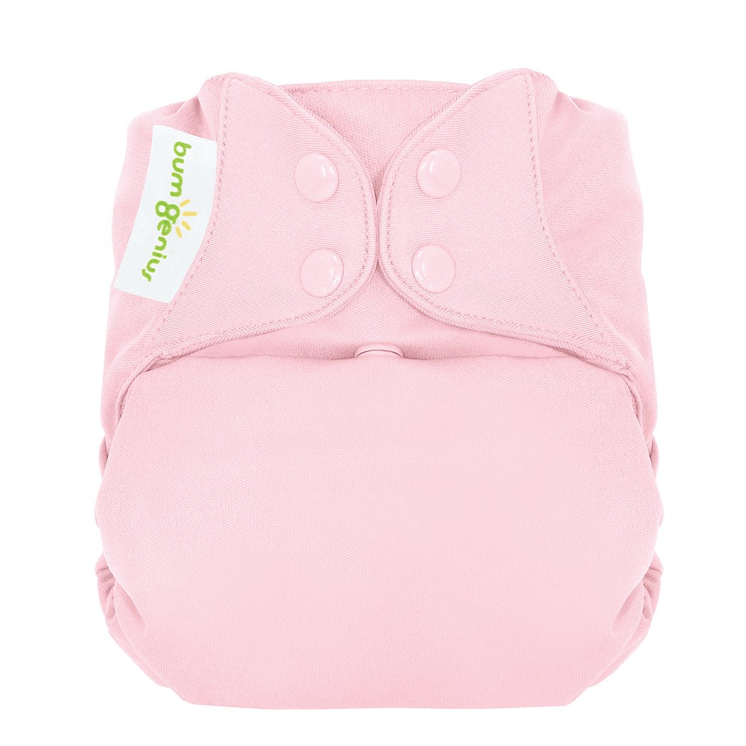 bumGenius Freetime All-in-One One-Size Snap Closure Cloth Diaper (Blossom)