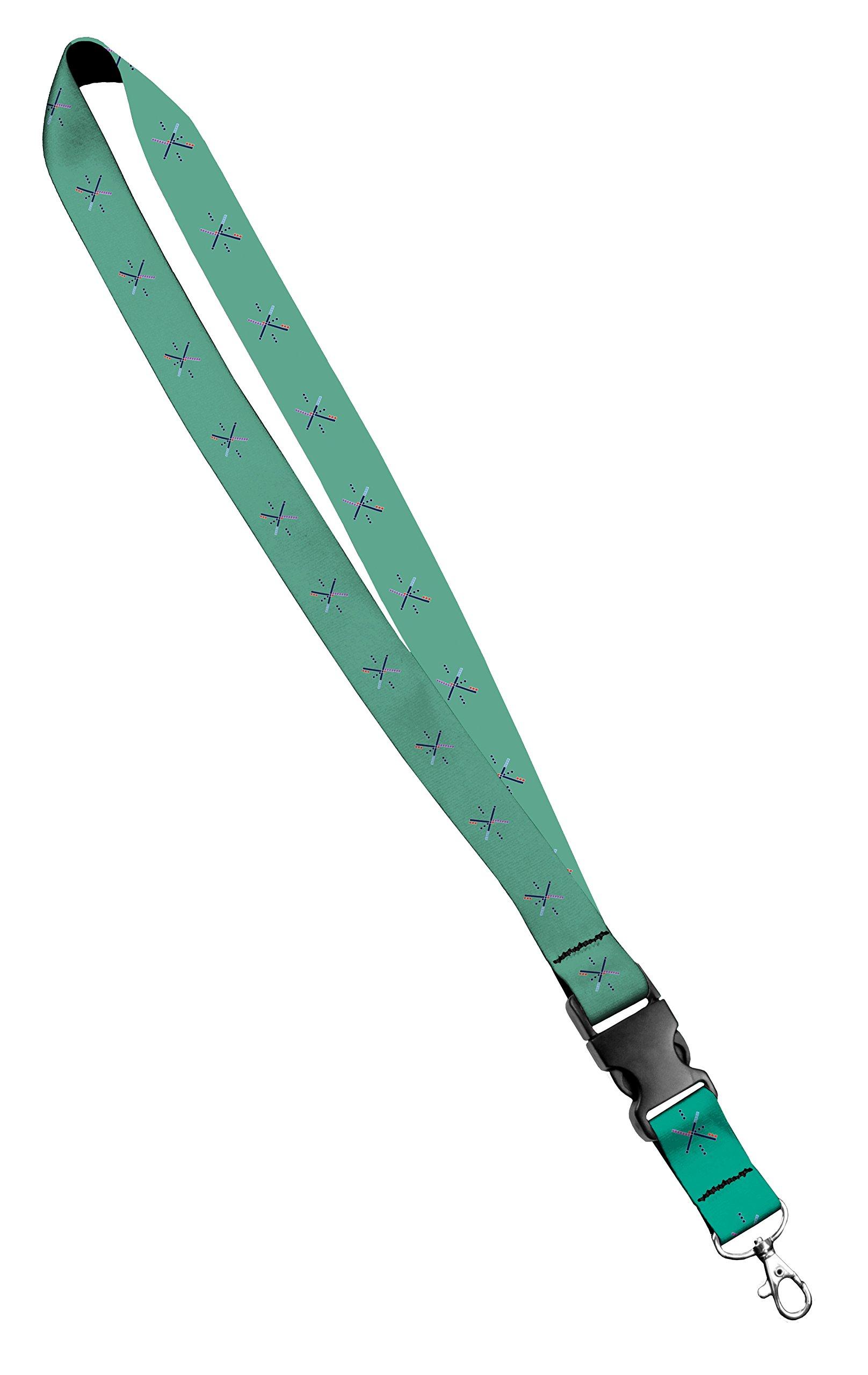 Moose Pet Wear Fashionable Lanyard - Satin Keychain Necklace, ID Badge Holder – 3/4 Inch, PDX Carpet