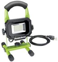 PowerSmith PWL124S 2400 Lumen Weatherproof Tiltable Portable LED Work Light, Green