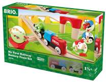 Brio World 33710 - My First Railway Battery Operated Train Set - 25 Piece Wood Train Set Toy with Accessories and Wooden Tracks for Kids Ages 18 Months and Up