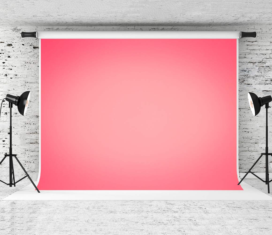 Kate 10x6.5ft Coral Pink Photography Backdrop Gradient Pink Portrait Background Photo Booth Props