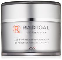 Radical Skincare Age-Defying Exfoliating Pads, 1.2 Fl Oz - Removes Dead Skin, Evens and Brightens Skin Tone for Radiant Glow | For All Skin Types Including Sensitive Skin | Paraben Free | Clinically Proven Results