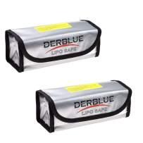 DerBlue 2pcs Fireproof Explosionproof Lipo Battery Safe Bag Lipo Battery Guard Safe Bag(185x75x60mm)