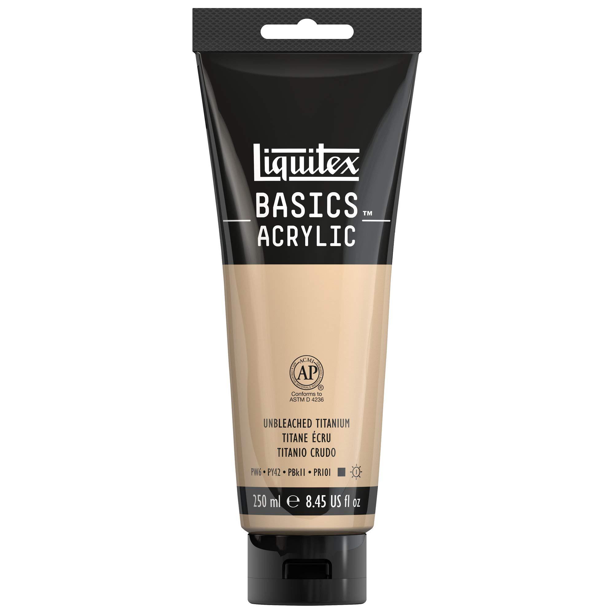 Liquitex BASICS Acrylic Paint, 8.45-oz tube, Unbleached Titanium